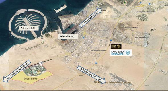 Dubai Parks Location map