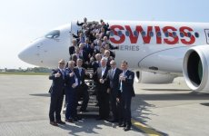 First Bombardier C Series passenger flight takes off