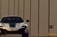 Video: Drone races Dubai Police McLaren