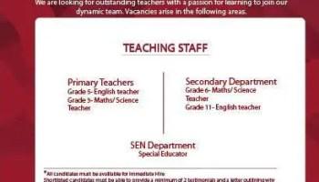 Teaching Vacancies Ajman UAE | Gulf Career Hunt