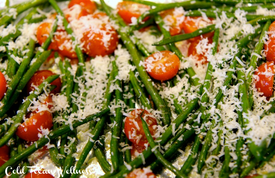 Parmesan Roasted Green Beans. A delicious, fast, simple side dish that goes with everything
