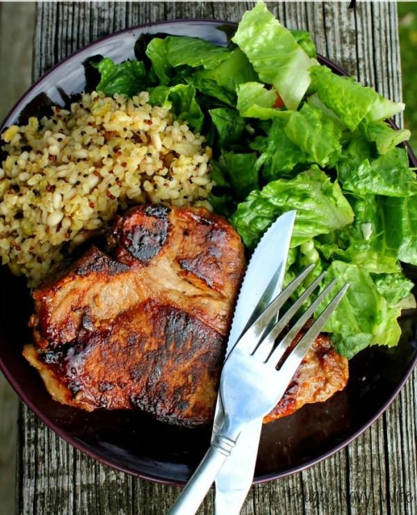 Homemade Romantic Dinners - Brown Sugar Glazed Garlic Pork Chops