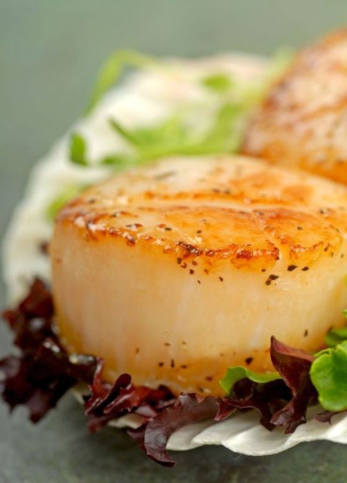 Homemade Romantic Dinners - Pan Seared Scallops with Herbs