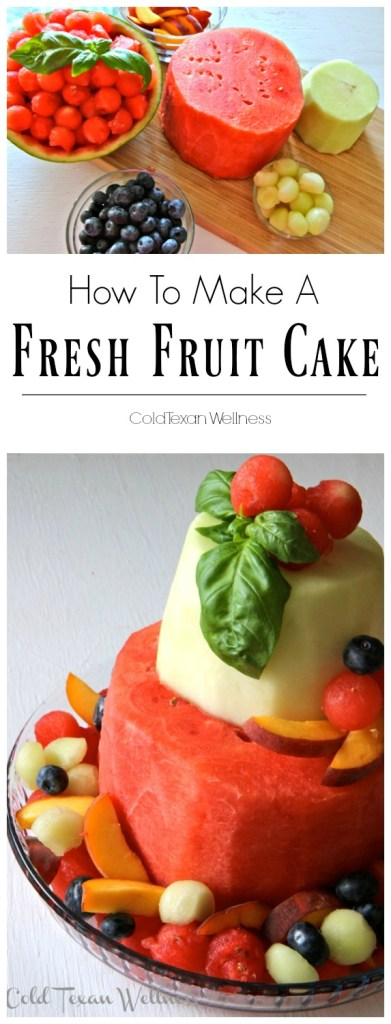 "How To Make a Fresh Fruit Cake. The healthiest cake you'll ever ""bake"". Allergy friendly and fits ALL diets (vegan, paleo, whole 30, 21 day fix)"