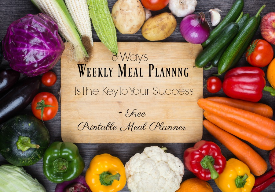 8 Ways Weekly Meal Planning Is The Key To Your Success and FREE 8 page printable meal planner
