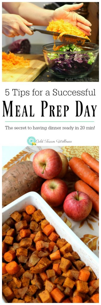 Get the most out of your meal prep day with these 5 tips. Find the real secret to having dinner on the table in 20 minutes or less. Help your family eat clean and stay healthy by making meal planning and meal prep a part of your weekly routine!