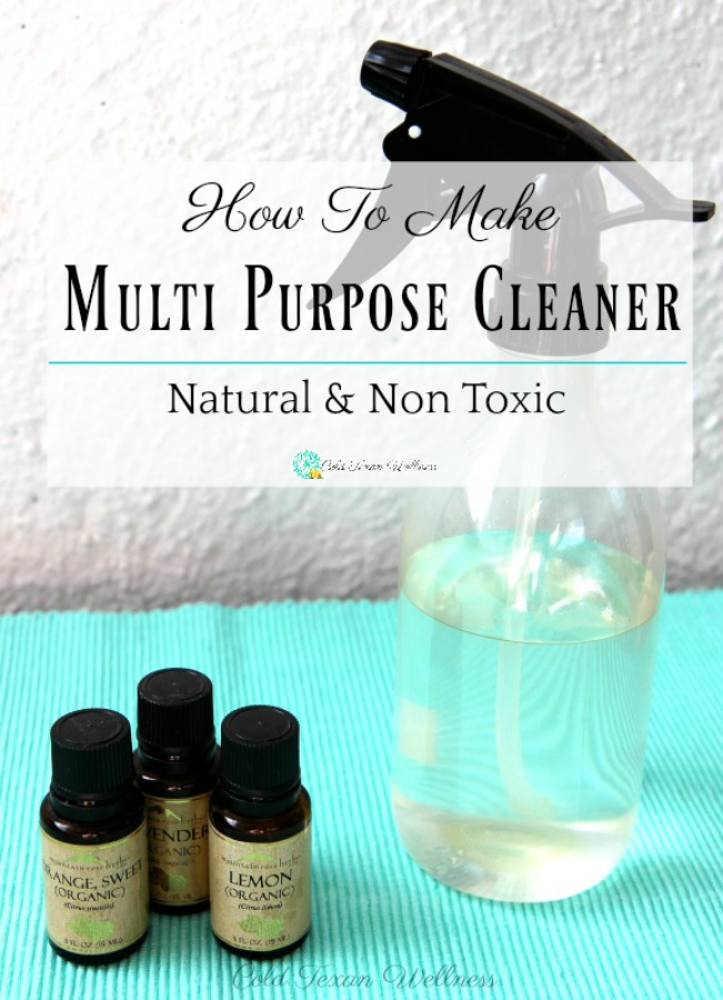 How to make a natural homemade all purpose cleaner. Made with only 3 ingredients that are things you probably already have! This multi purpose cleaner can be used on most surfaces and is a very affordable DIY. A great way to use your essential oils in every day life! #naturalcleaner #essentialoils #essentialoilseveryday #greenclean #nontoxic #naturalandhomemade