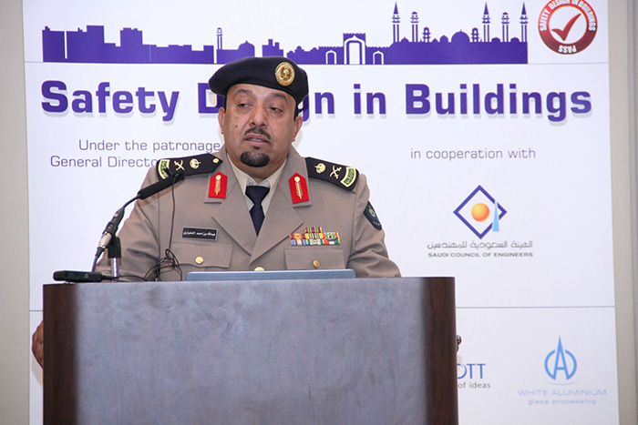 Major General Abdullah Al Shughaithri, Assistant Director of Safety Gen. Directorate of Civil Defense opens the conference