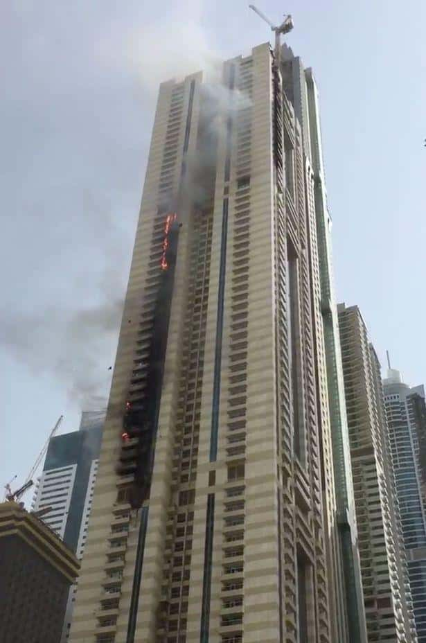 Another tall tower fire in Dubai gives Firefighters a challenge amid high season temperatures