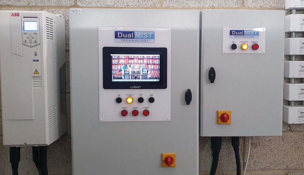 Here is an example of a control panel having been installed in The Claridges Hotel, London, UK. This is where the system is operated.
