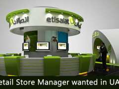 Retail Store Manager wanted in UAE