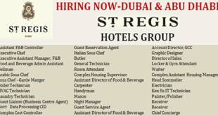 About St Regis Group Have List Of All New Jobs Hiring You Can Find LocalcorporateDaytimeover Night Part Time And Full Timecashierstorenyc