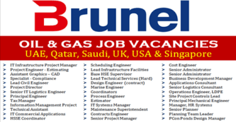 Latest Jobs Hiring At Brunel Oil n Gas In UK-USA-Qatar-UAE