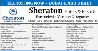 Latest Jobs Hiring At Sheraton Hotel Resorts In Uae Gulf Jobs Hiring