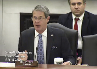 "The Senate Committee on Small Business and Entrepreneurship under the chair of Louisiana Senator David Vitter, recently held hearings on ""The Impacts of Federal Fisheries Management on Small Businesses"". Photo: U.S. Senate"