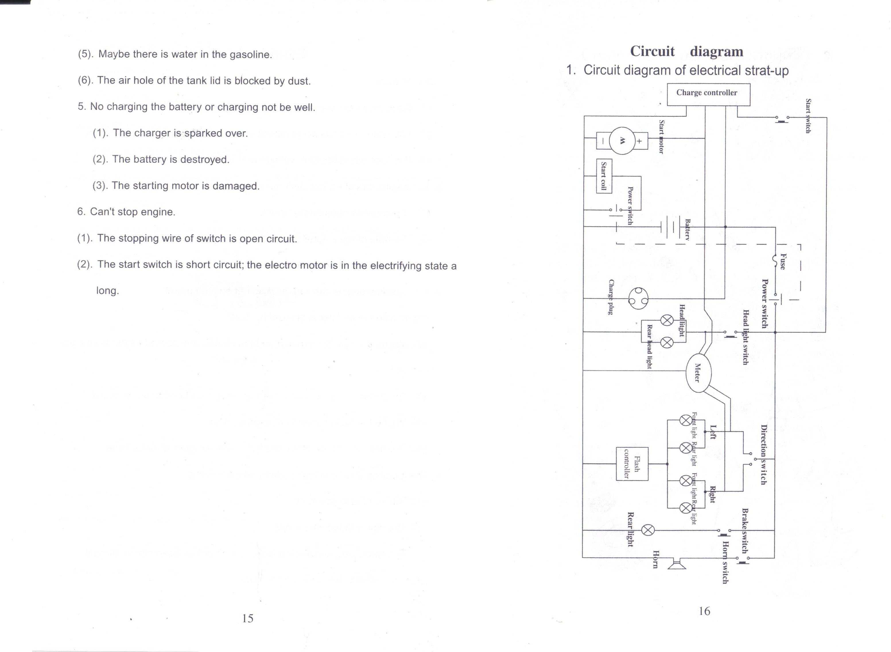 A Wire Diagram For Charging System On 49cc Tank 49cc chinese ...  Cc Gy Scooter Wiring Diagram on