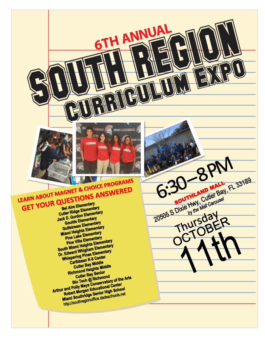 South Region Curriculum Expo