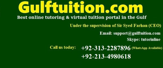 Online Tutor in Pakistan, Virtual MBA Teacher +92-313
