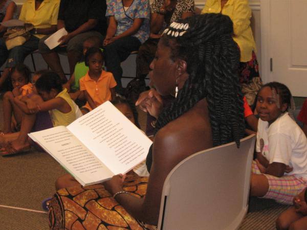 Queen Quet at Summer Reading Program
