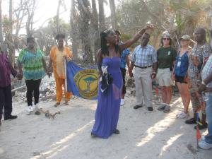Queen Quet Leads Libation at Botany Bay