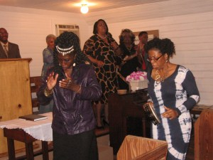 Queen Quet & Glenda Simmons-Jenkins Shoutin at Mt. Olive Baptist Church