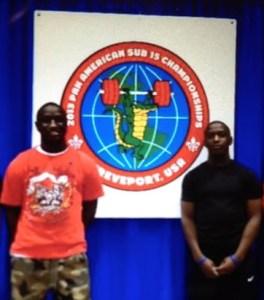 CJ & Omar Cummings at Pan American Weightlifting Competition