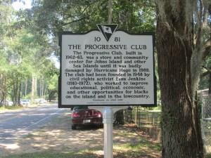 Progressive Club Historic Marker Side 1