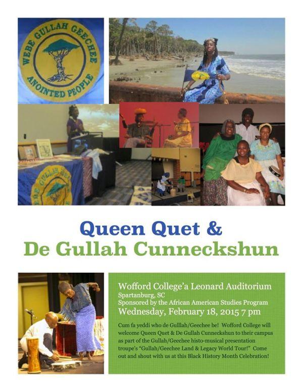 Queen Quet & De Gullah Cunneckshun at Wofford College