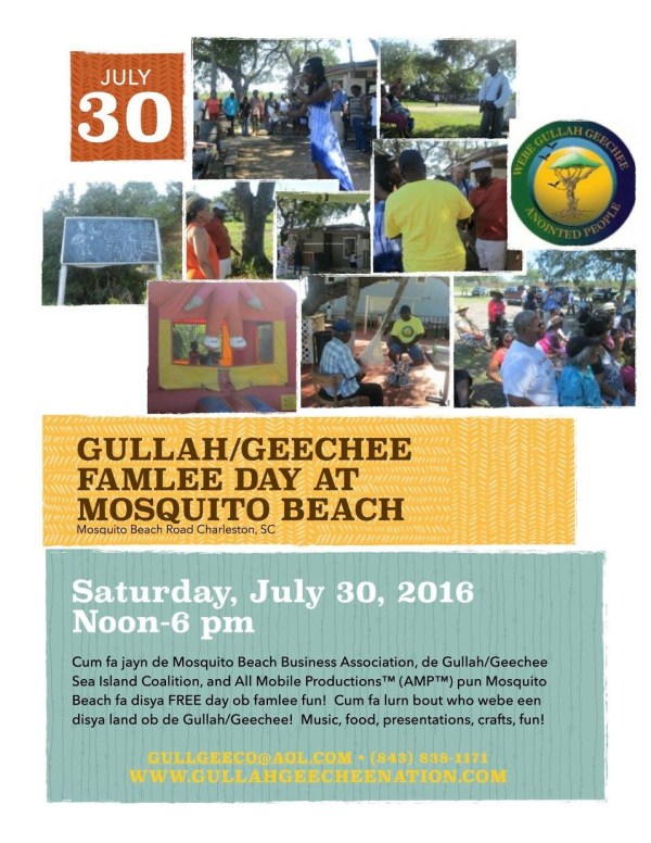 Gullah/Geechee Famlee Day at Mosquito Beach