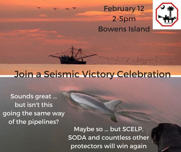 Seismic Victory Celebration in the Gullah/Geechee Nation