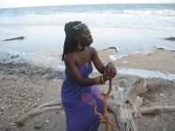 Queen Quet, Chieftess of the Gullah/Geechee Nation (www.QueenQuet.com) pun de shore.