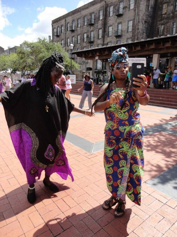Queen Quet and Khetnu Nefer at Unity in the Community