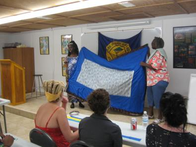 Quilting workshop at our sister center, Hunting Island Nature Center.