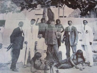 Gummibaroner med indianer och rådjurskid.