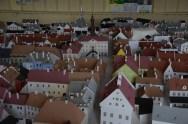Modell av Gamla staden före det sovjetiska artilleriet.