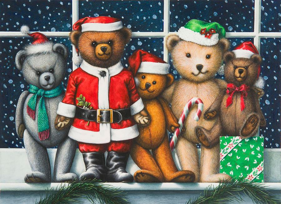 Christmas teddies por Lynn Bywaters