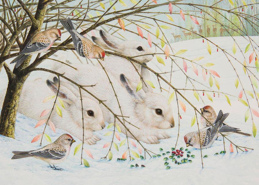 White rabbits por Lynn Bywaters
