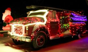 Christmas Cove Fire Truck
