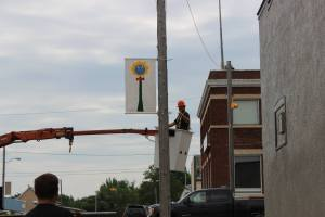Town Staff Hanging Banners