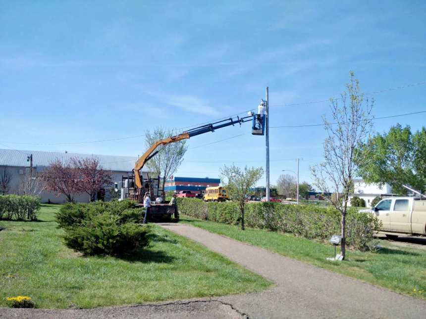 Little Green on the Prairie Park Lighting Upgraded Business GULL LAKE  Small Business Mayor's Report