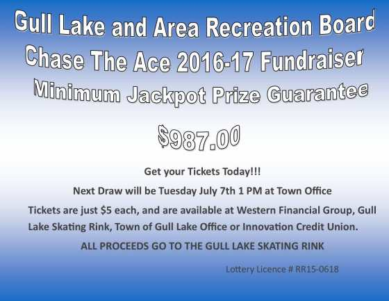 Mike Vallee Wins this Weeks Chase the Ace Draw GULL LAKE  Gull Lake Recreation Complex