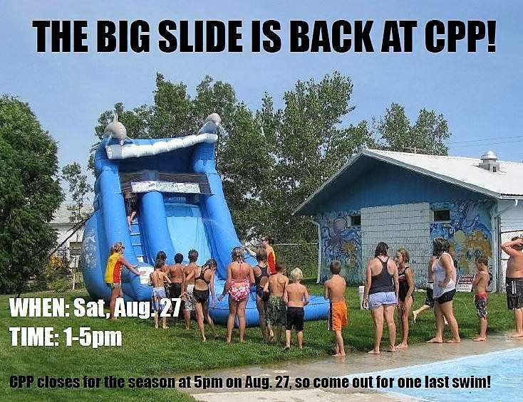 Big Slide is Back at Crescent Point Pool GULL LAKE Health & Wellness  Events Crescent Point Pool