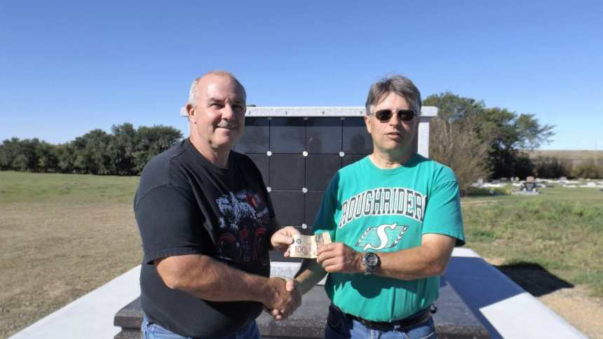 Bud Cates Donates To Cemetery Grave Cleaning Project GULL LAKE  Cemetery Committee