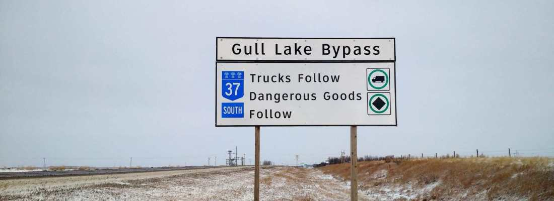 New Signs Installed  for Gull Lake Bypass along #1 and #37 Highways Government GULL LAKE  Town Council Mayor's Report Community