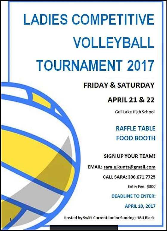 Ladies Competitive Volleyball Tournament 2017 GULL LAKE  Gull Lake School Events Community