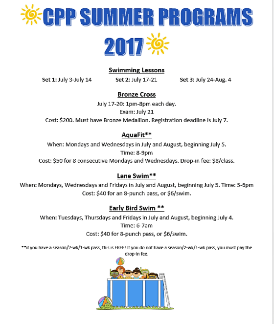 Check Out the Crescent Point Pool Summer Programs GULL LAKE  Crescent Point Pool