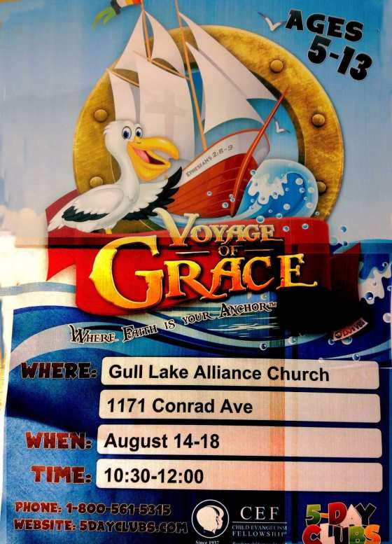 5 Day Club for Kids Ages 5 to 13 at the Gull Lake Alliance Church Education GULL LAKE  Gull Lake Alliance Church Community