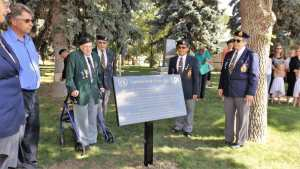 """""""CAPTAIN KEITH MIRAU DAY"""" CEREMONY AT THE GULL LAKE CENOTAPH"""