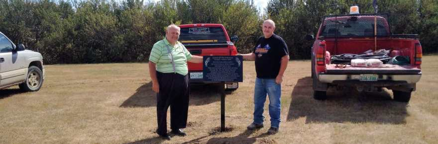 The Gull Lake Cemetery Potter's Field Memorial Plaque Installed Today GULL LAKE  Gull Lake Cemetery Committee