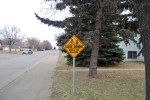Slow Down Watch for Children Signs Placed on Street Corner Government GULL LAKE  Mayor's Report